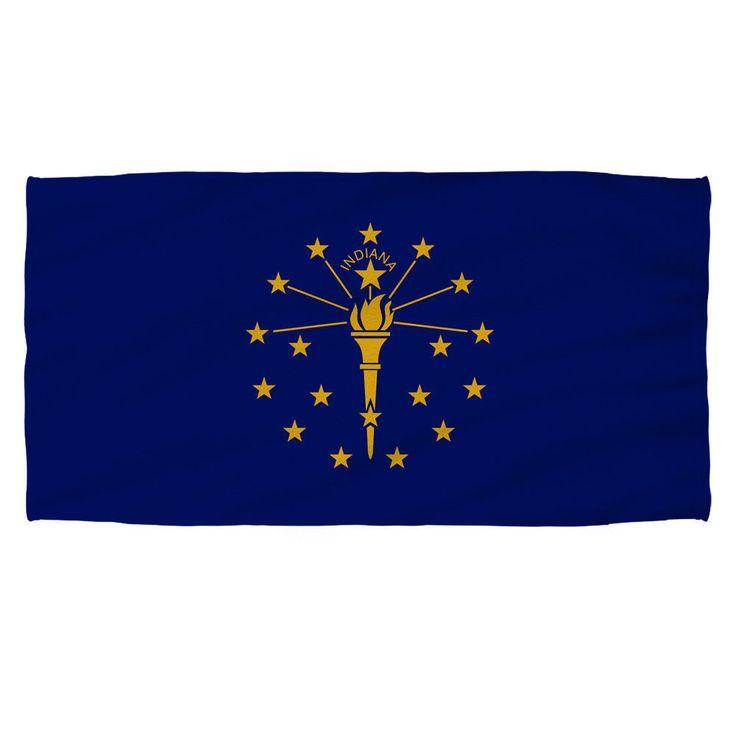 Indiana Flag Golf Towel