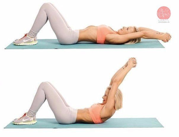 Эффективные тренировки на пресс  Каждое упражнения выполняйте 20 раз, в 3 подхода