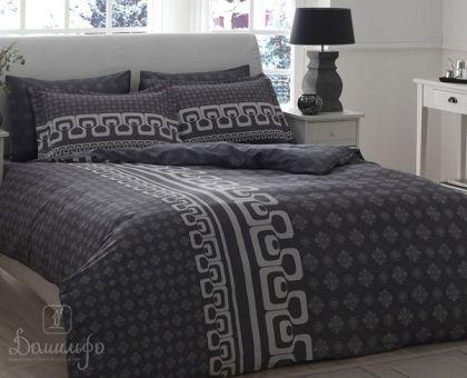 Купить постельное белье LEONA серое Delux 1,5-сп от производителя Tac (Турция)