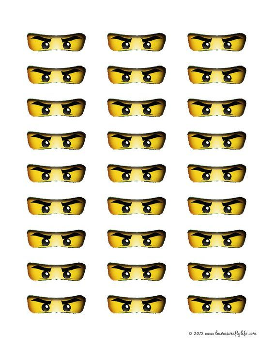 Printable Ninjago Eyes