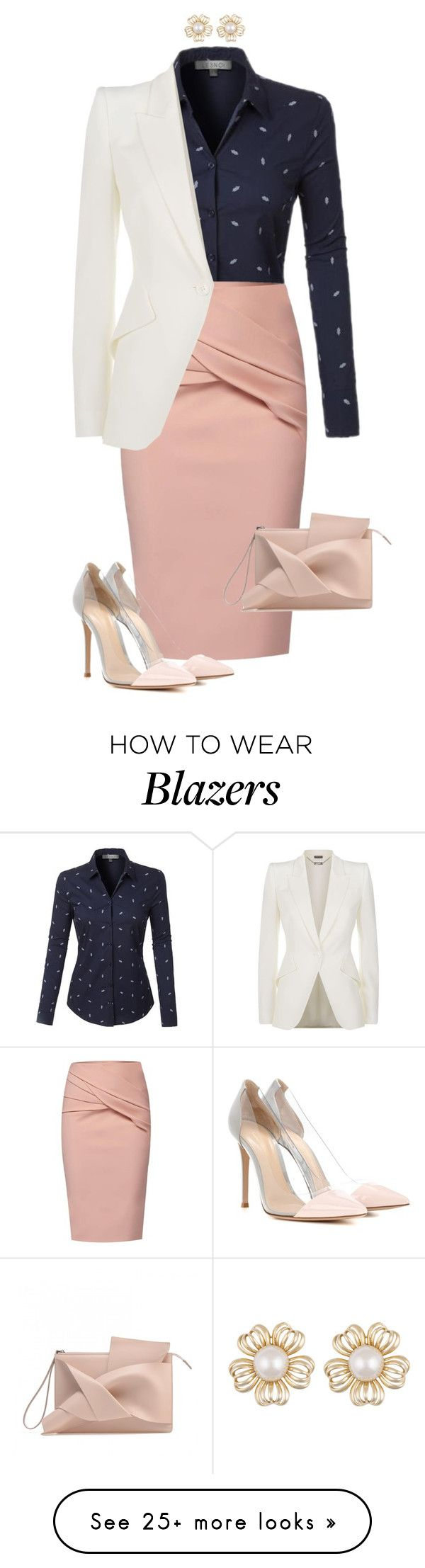 """#675"" by anne1999 on Polyvore featuring LE3NO, WtR, Alexander McQueen and Gianvito Rossi"
