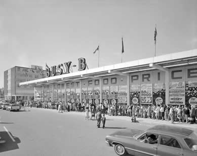 Busy B, Before Zehrs?  Waterloo Town Square, 1964