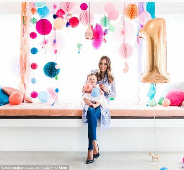 Bec Judd throws daughter lavish first party with water colour desserts