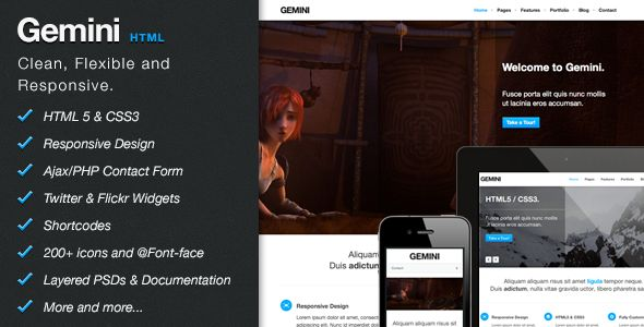 Gemini - Clean Responsive Theme