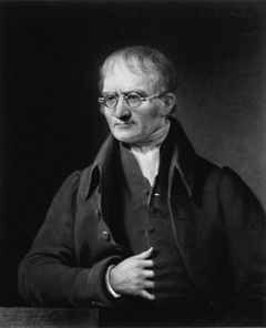 John Dalton (6 September 1766 – 27 July 1844), English chemist, meteorologist and physicist.