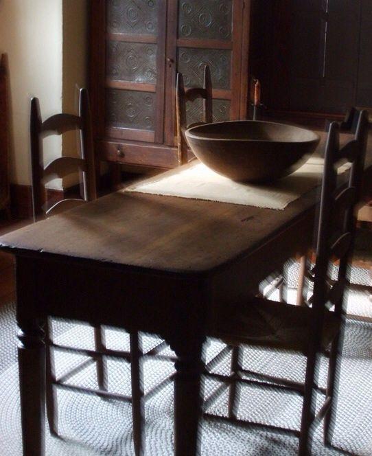 antique kitchen table primitive - Primitive Kitchen Tables