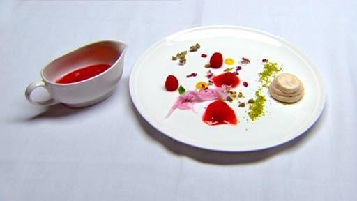 Strawberry meringue with champagne fresh berries granita and fairy floss | MasterChef Australia #masterchefrecipes