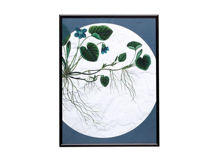 Der klassische Flora Danica-Druck in einen schönen schwarzen Rahmen. Der Druck stammt von dem klassischen Florica Danica-Service, das die russische Zarenfamilie 1790 als Geschenk erhielt. Flora Danica ist zu einem Teil der dänischen Geschichte geworden, und wir freuen uns, dass wir den schönen klassischen Druck für unsere Plakatserie nutzen durften.