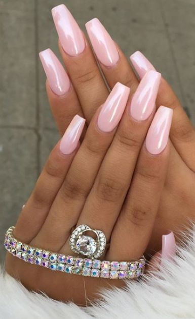 52 Cute and Lovely Pink Nails Designs to Look Romantic and Girly