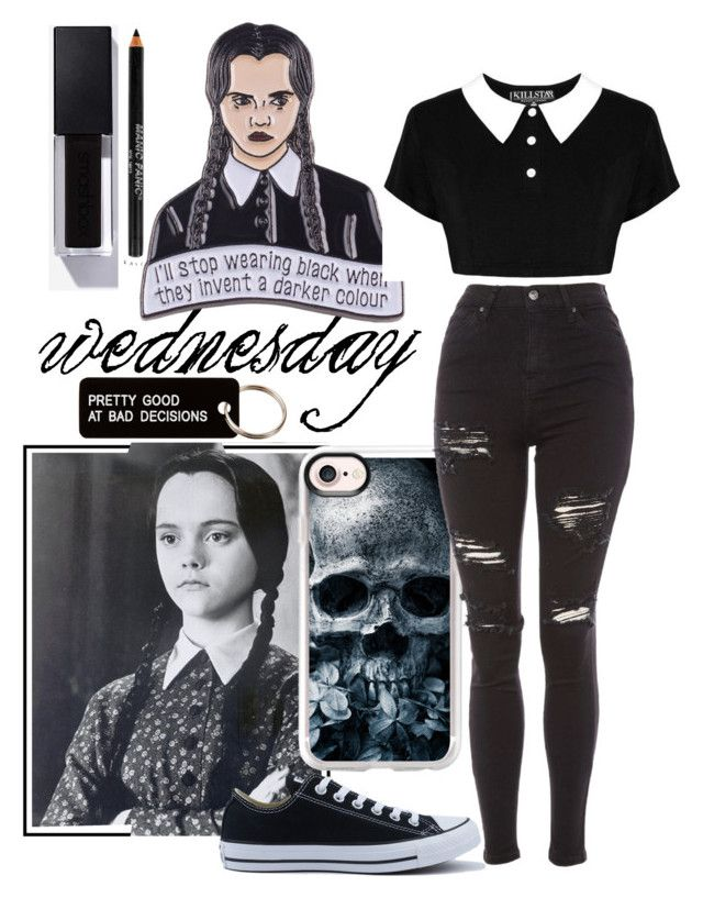 "7cc573692394e36c4de745de2203256b - ""pulled🖤"" by justdela ❤ liked on Polyvore featuring Killstar, Manic Panic N..."