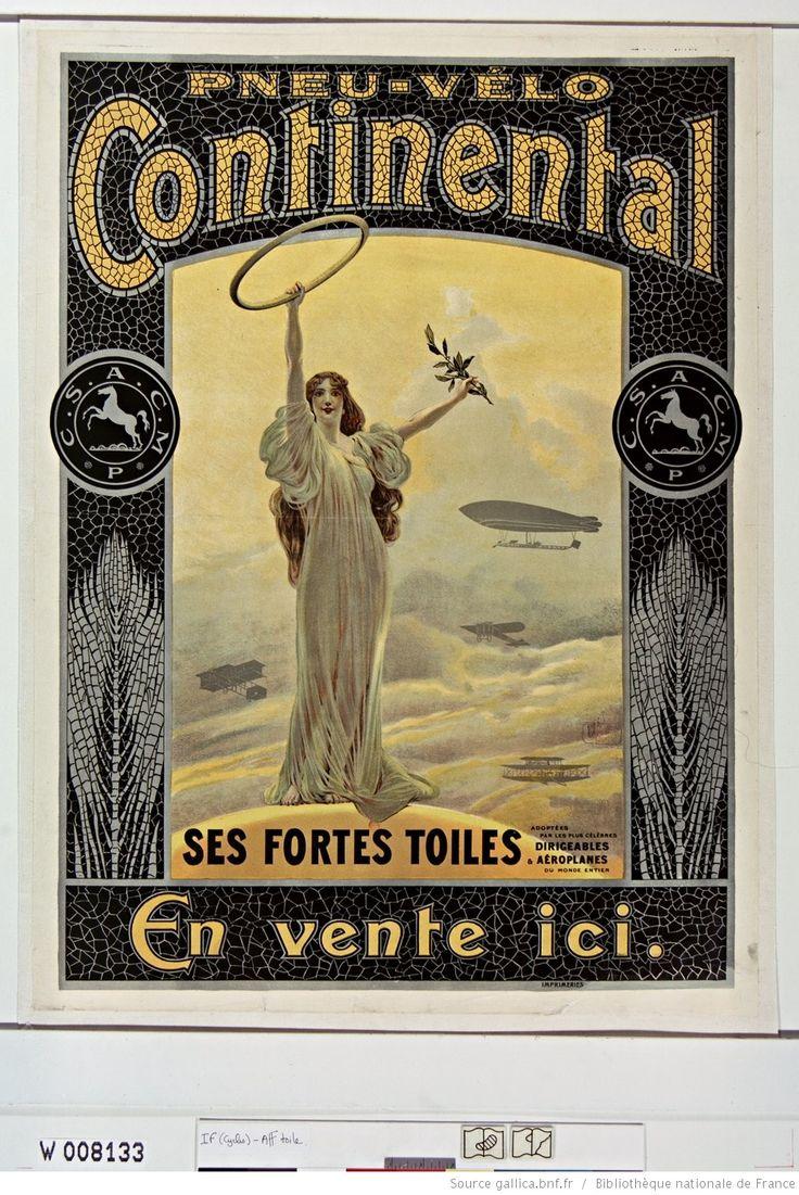 Pneu-vélo Continental... : [affiche] / [non identifié] | Gallica
