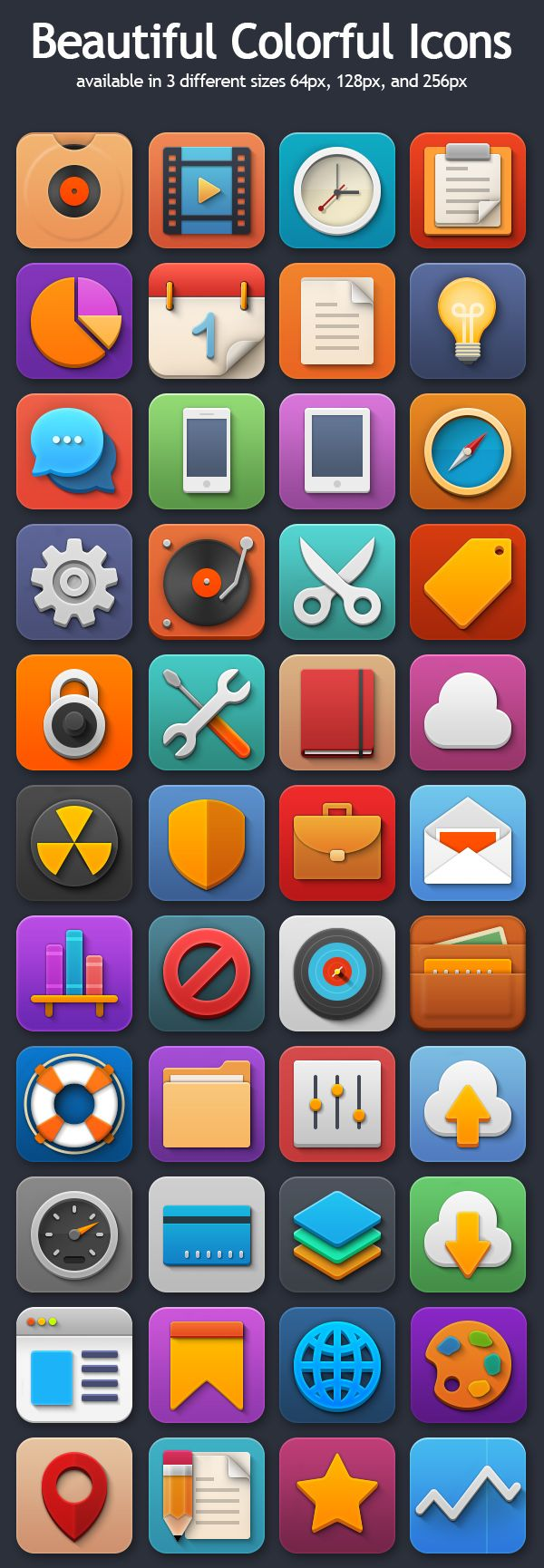 Colorful Icons Set Preview