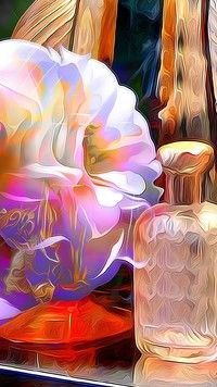 Karafka i kwiat