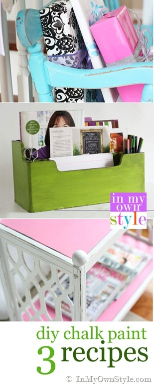 How-to-make-Chalk-Paint { In My Own Style.com}  #Furniture
