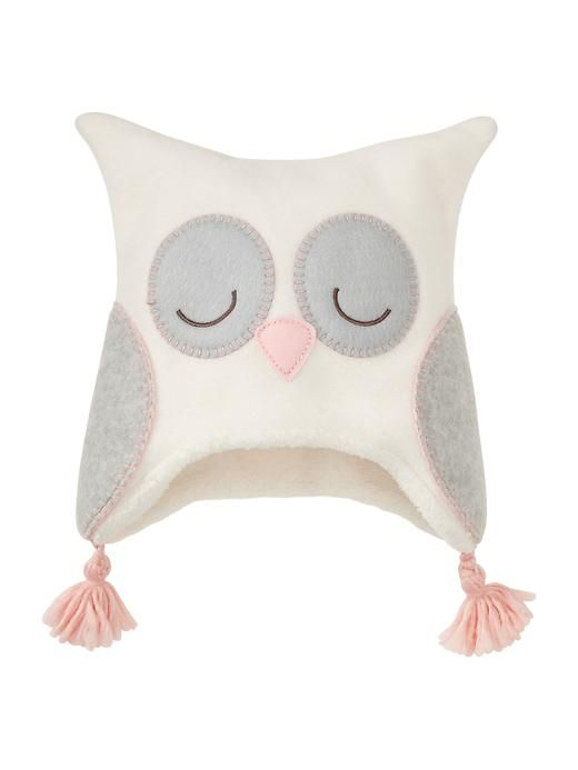 Fleece Owl Hat @Stephanie Close Close Close AnastasiaRuby. I watch your all your name videos and baby vlogs! This made me think of your owl theme and Juliette. :)