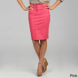Tabeez Women's Colored Denim Pencil Skirt | Colors, Denim pencil ...