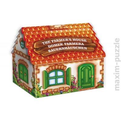 Domek Farmera ma otwierane drzwi i okna, a postacie mogą być wstawiane w dowolnych miejscach. Plansza składa się z 36 elementów z dużą ilością postaci i rekwizytów do ułożenia w 3D.WIEK: 4-8 lat