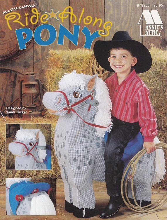 Ride Along Pony Annie's Attic Plastic Canvas Pattern