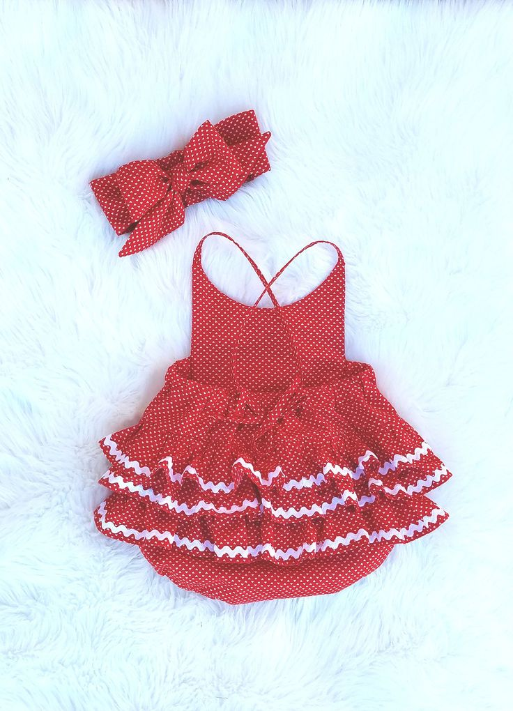 Baby Girls Valentines Romper-Girls Red Romper-Ruffled Romper-Party romper-skirted romper-Smash cake outfit-1st Birthday Romper- NB-18/24mth by GeeBabyDesigns on Etsy