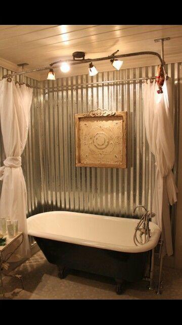 Galvanized Steel Claw Foot Tub Surround House Stuff