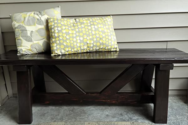 Providence Bench for my Front Porch | Do It Yourself Home Projects from Ana White