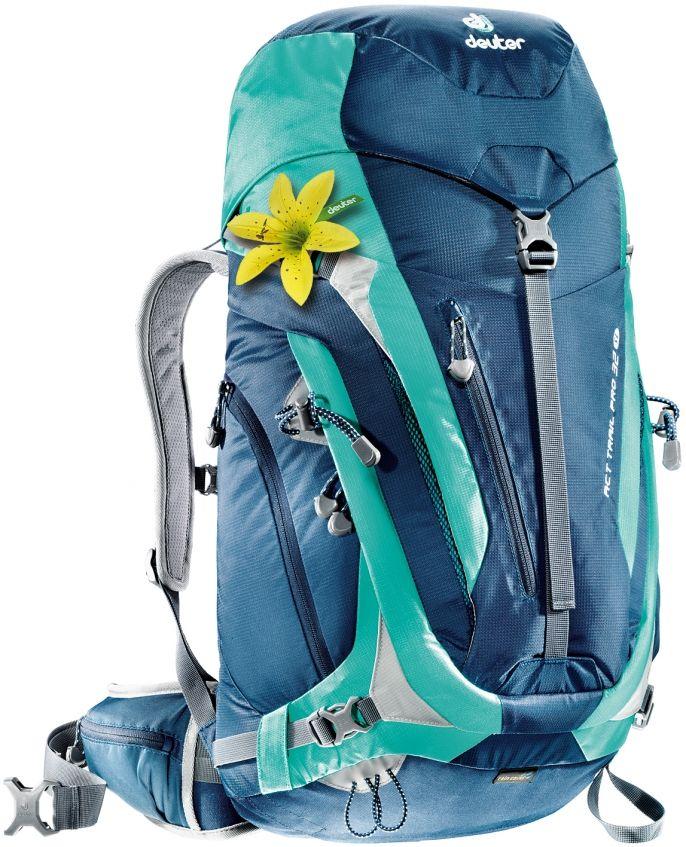 Wanderrucksack ACT Trail PRO 32 SL: Der neue Deuter ACT Trail Pro Damen Rucksack ist voll mit Features, perfekt als Wanderrucksack auf Mehrtagestouren oder für mehr Ausrüstung.