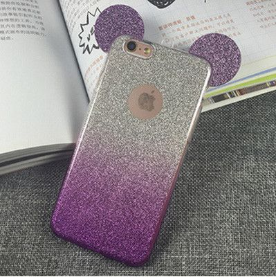 3D Mickey Mouse Ears Phone Cases For iphone 5S Case For iphone 5 SE 6 6S 6 Plus 4 4S Cute Candy Gradient Soft TPU Cartoon Cover