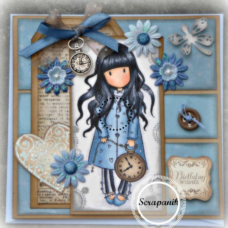 [Gorjuss] White rabbit | blue and caramel