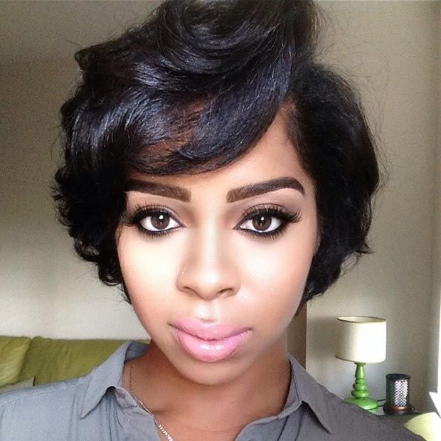 Medium Short Black Hairstyle Length Bob Hairstyles Hair Stylizr Pictures