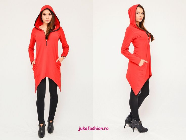"Poze OFERTA PROMO : Hanorac ""Red Hood"" by JukaFashion.ro cod 00901"