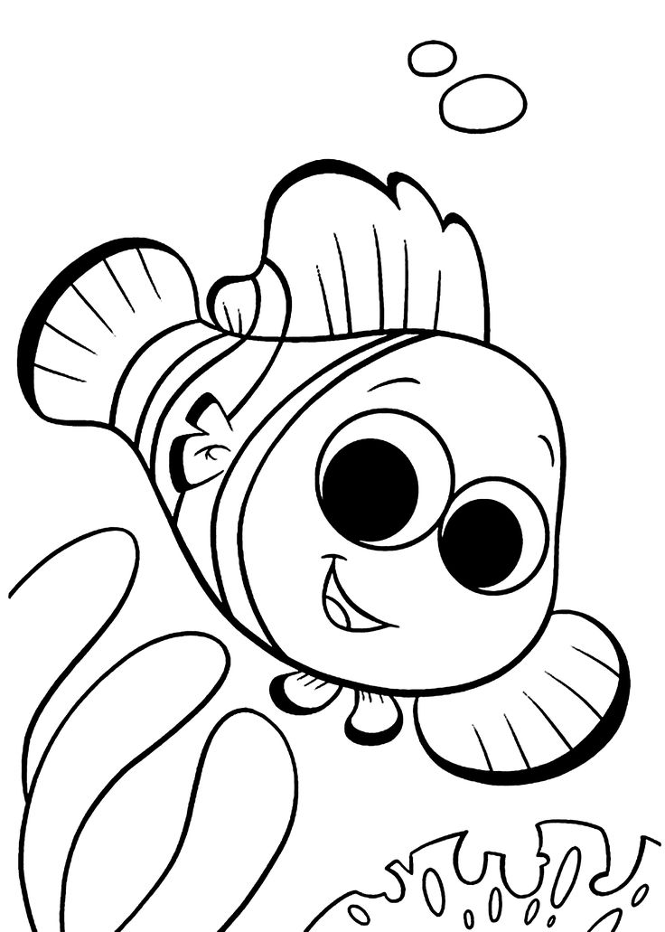 finding nemo coloring pages for kids printable free - Drawings For Kids To Color