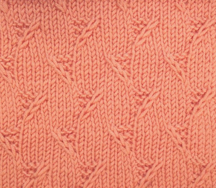 """Garter Stitch Triangels is another great """"all over"""" textured stitch when you don't want something lacy. You'll find it in the Bobbles & Slip Stitches category."""