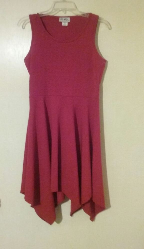 d74b94acda Urban Rose Fit and Flare Dress Handkerchief Hem Size M  UrbanRose   FitFlareDress