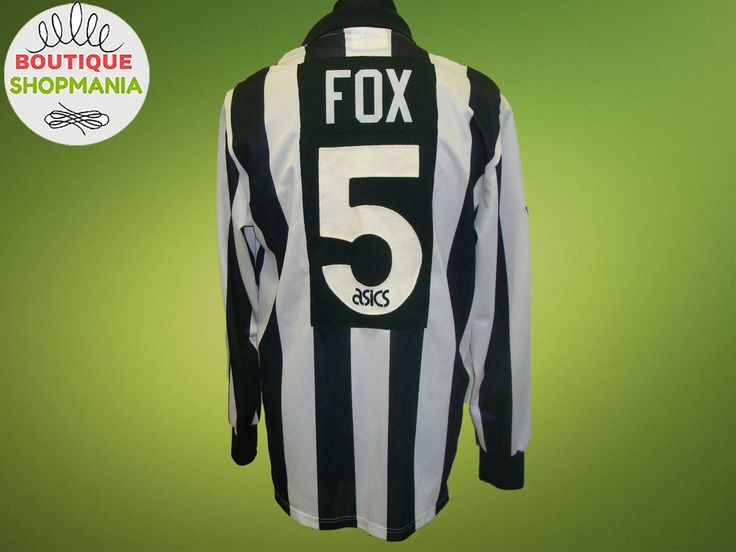 RARE NEWCASTLE UNITED HOME 1993-1995 #5 Ruel FOX Signed (L) Asics Football Shirt #ASICS #NewcastleUnited
