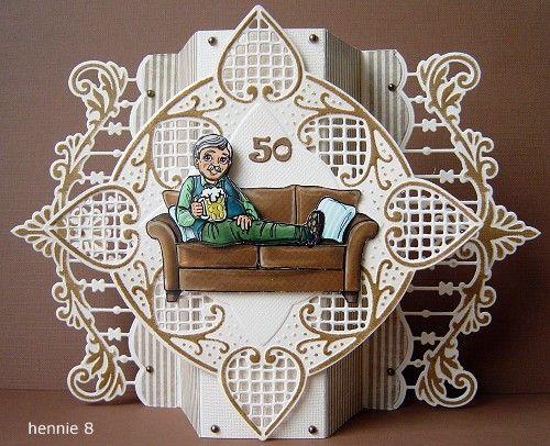 Voorbeeldkaart - verjaardag Marcel - Categorie: Stansapparaten - Hobbyjournaal uw hobby website
