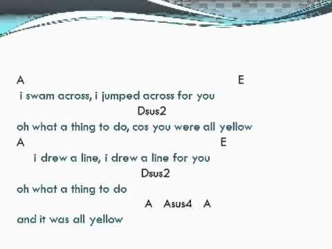ColdPlay - Yellow lyrics and chords