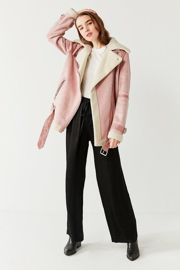 Winter Outfit Ideas. You can still wear this Satin Wide-Leg Puddle Pant, the technique is, just wear a thermal tights underneath. Winter Outfit | Winter Essentials | What to Wear | Winter Season | Winter Style | Casual Winter Outfit via http://hershoppinglists.com/ #shopstyle #affiliate