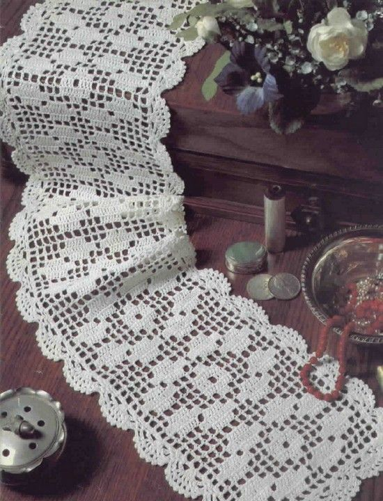 Many patterns for crochet table runners....