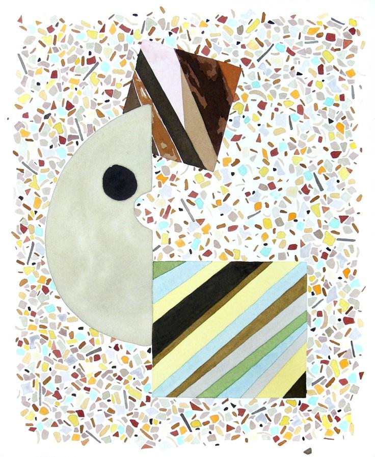 Amber Wilson, Mid-Century Confetti, 2009, watercolour on paper