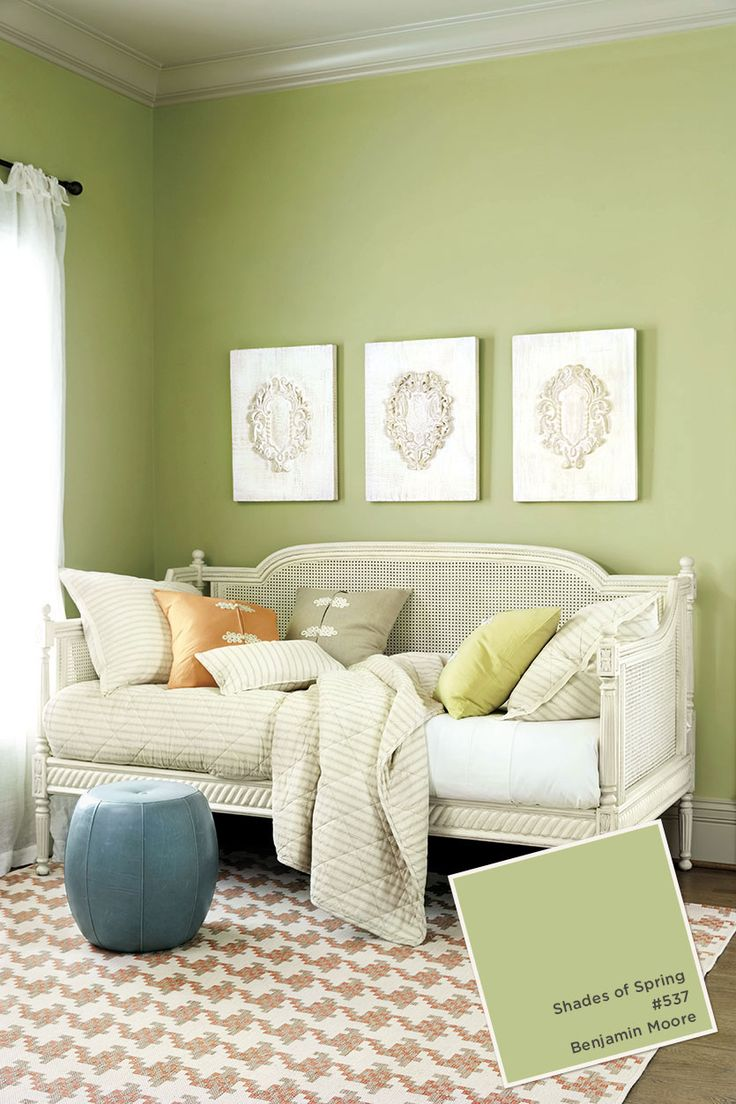 Green and yellow living room - Ballard Designs Summer 2015 Paint Colors