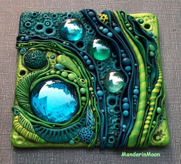Neptunes Garden Tile - Photos - Polymer Clay Adventure
