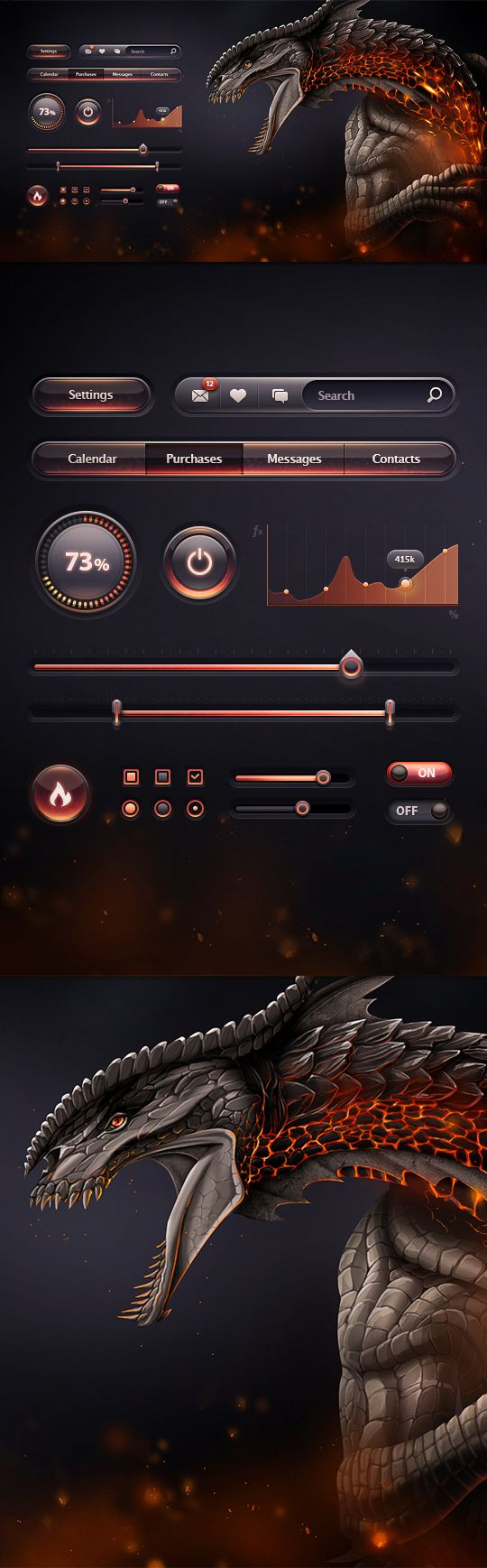 Portfolio 2012-2013 | UI Concepts by Mike , via Behance