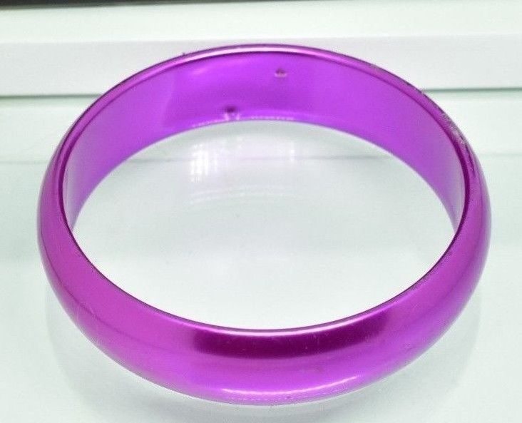PURPLE PINK METALLIC ACRYLIC PLASTIC BRACELET #Unbranded #Bangle