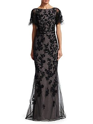 6db7ac76cce David Meister Sequin Tulle Mermaid Gown