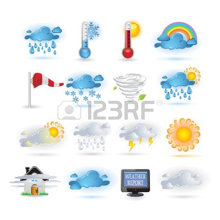 Wetter Bericht Icon set