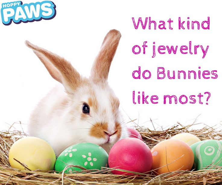 A fun Easter riddle. What kid of jewelry do bunnies like most? 24 CARROT Gold! www.hoppypaws.com