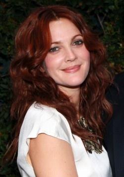Drew Barymore' red hair