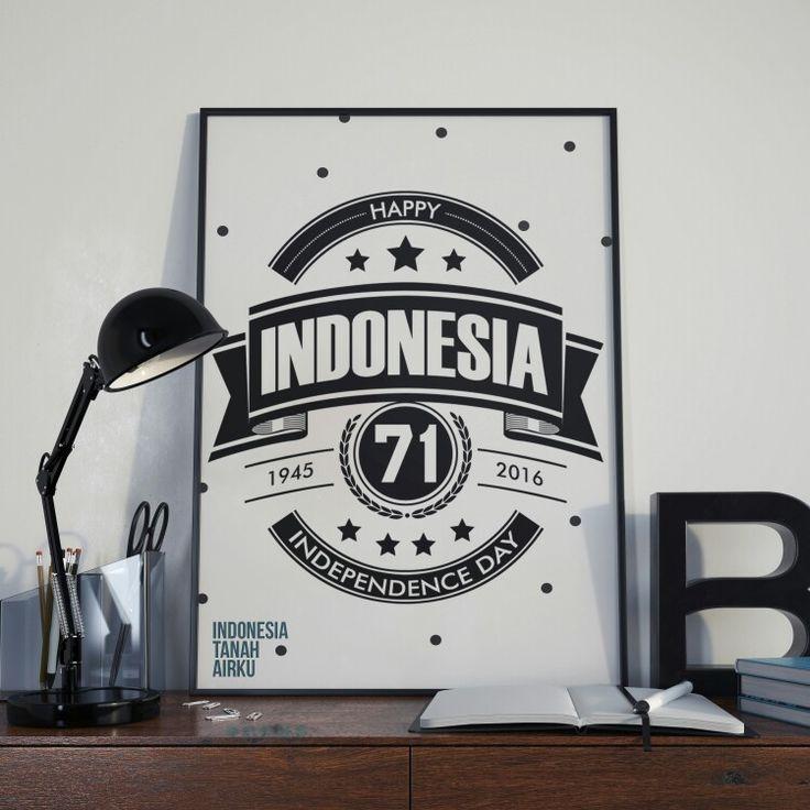 "Poster ""Happy Indonesia Independence day 71"" Selamat Hari kemerdekaan Indonesia yang ke 71 by Irfan m ramdhan  #poster #independenceday #kemerdekaanRI #indonesia #pinterest"