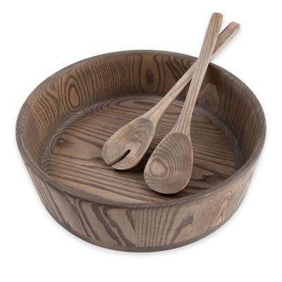 Artisanal Kitchen Supply™ 3-Piece Wooden Salad Bowl and Server Set - BedBathandBeyond.com