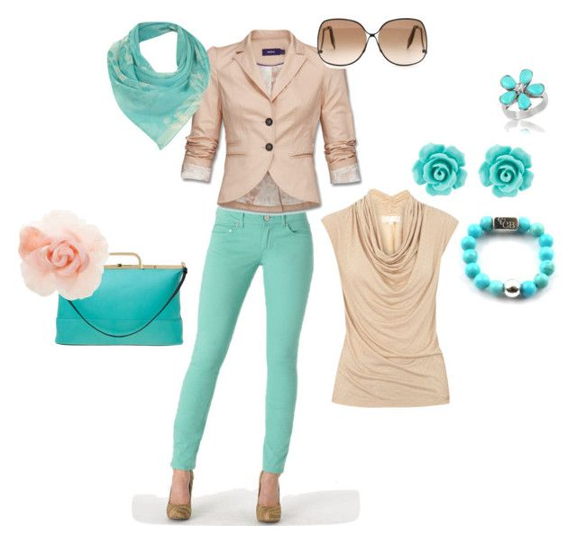 """mint green pants"" by jaystilo ❤ liked on Polyvore featuring Indigo Rein, Mexx, Philippe Roucou, Warehouse, Victoria Beckham, Van Peterson 925, Del Gatto, Miss Selfridge, MICHAEL Michael Kors and ChloBo"